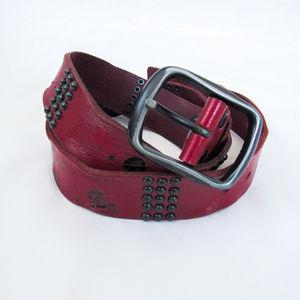 Vintage Style Rocker Studded Leather Belt Unisex